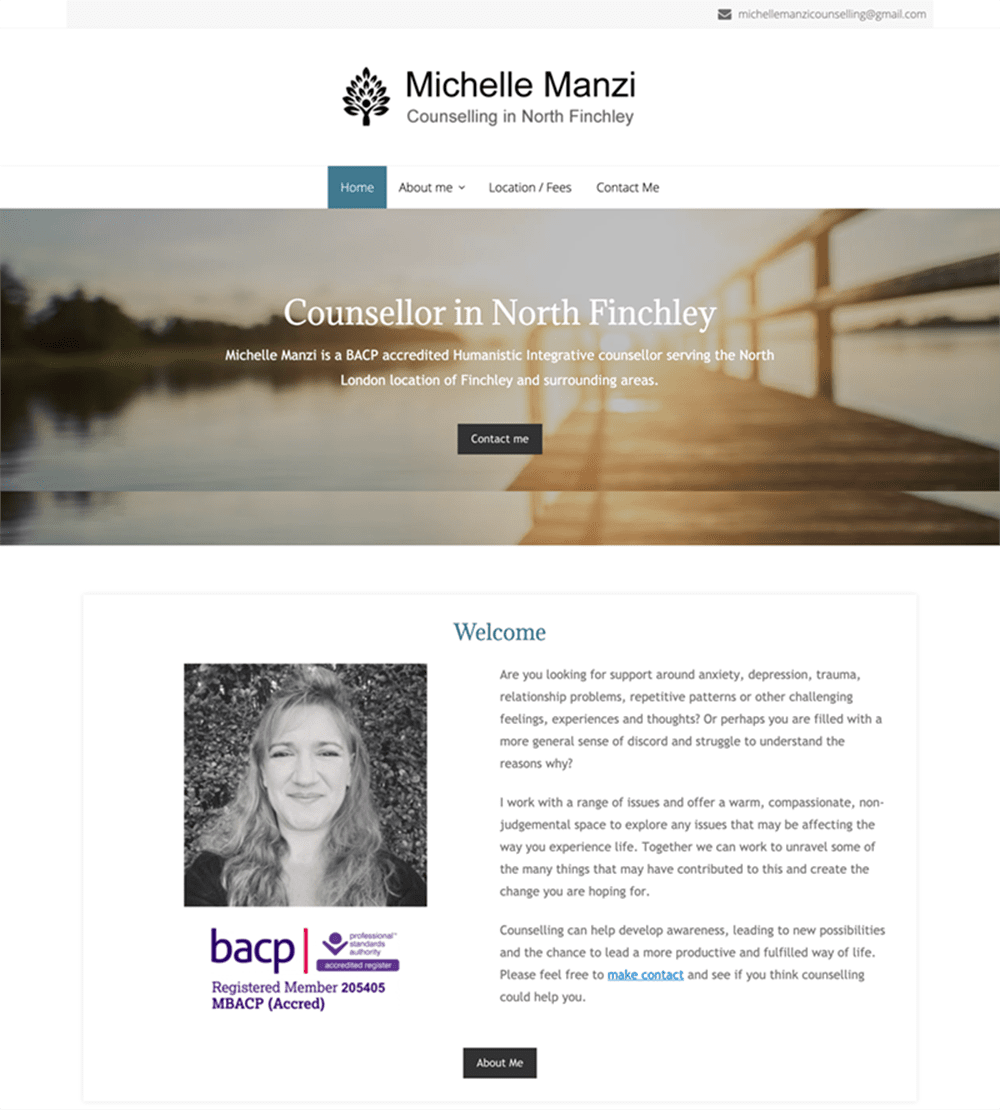 Michelle Manzi, counsellor in Finchley